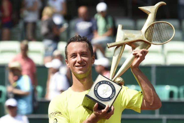 Kohlschreiber conquista título em Kitzbuhel e lugar no top-30