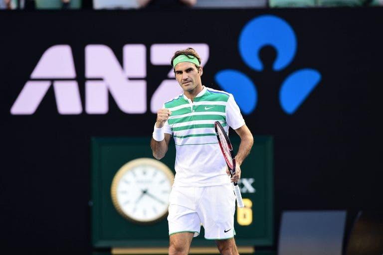 Roger Federer passeia em Melbourne rumo à 2ª ronda