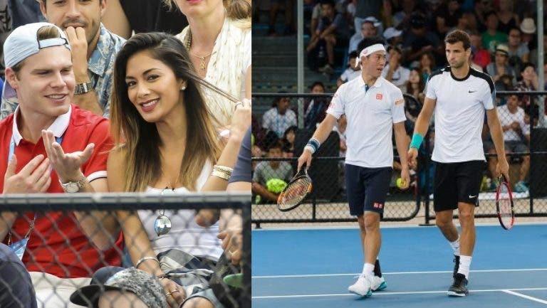 Das pistas para o court: Nicole Scherzinger está em Brisbane com Dimitrov