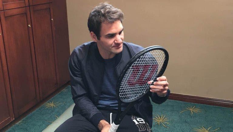 Federer desafia os fãs a ganharem a sua nova raquete