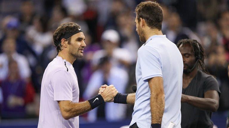 Del Potro diz que não fala de ténis com Federer mas sim de futebol e explica porquê