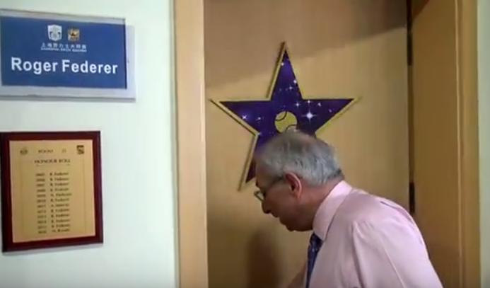 [VÍDEO] Abriram a porta ao balneário (privado) de Roger Federer em Xangai