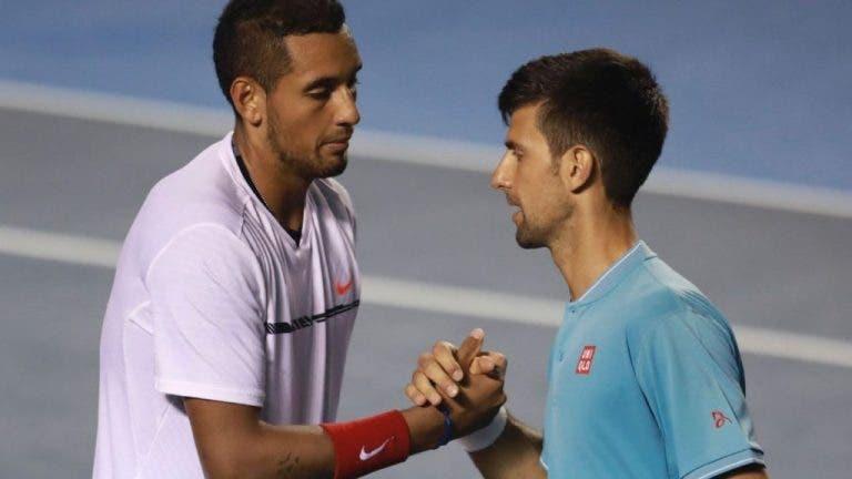 """""""Saúde irmão""""! Kyrgios responde com 'amor'… a Novak Djokovic"""