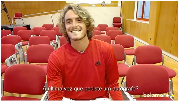 [VÍDEO] Federer ou Nadal? Tsitsipas disse-nos quem preferia quando passou por Portugal