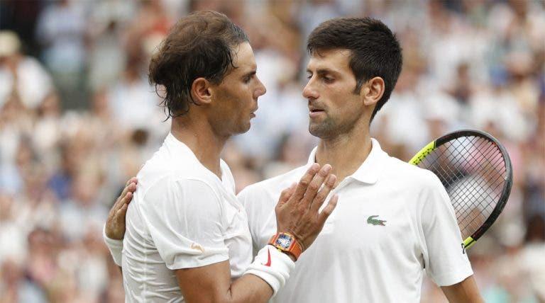 Djokovic felicita Nadal pelo título no US Open: «Parabéns por criares mais história no nosso desporto»