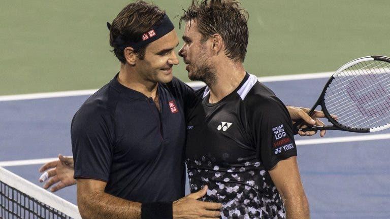 Federer: «Fico muito feliz por ver o Wawrinka a jogar tão bem»