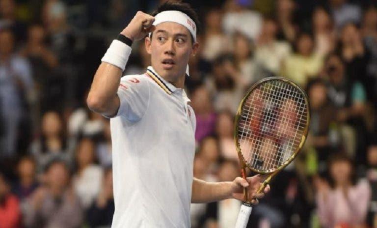 Nishikori volta a jogar muito e passa por Gasquet rumo à 3.ª final em Tóquio