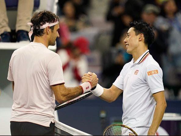 Nishikori: «É incrível ver que o Federer continua a melhorar com 37 anos»