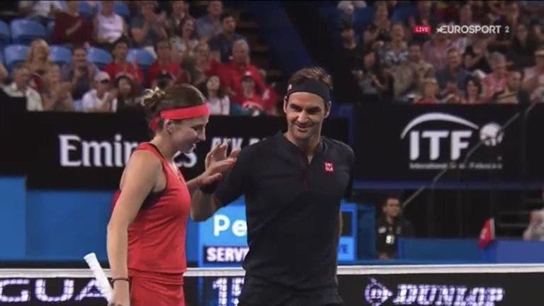Federer e Bencic vencem par misto e Suíça termina eliminatória com Grã-Bretanha 100% vitoriosa