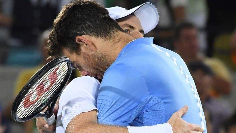 Del Potro sobre o regresso de Murray: «Não ter dores é mais importante que ganhar um torneio»