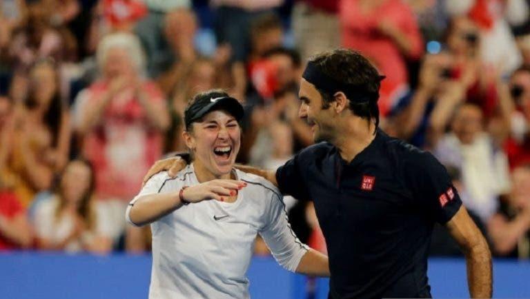 Bencic quer jogar pares mistos com Federer nos Jogos Olímpicos: «É possível»