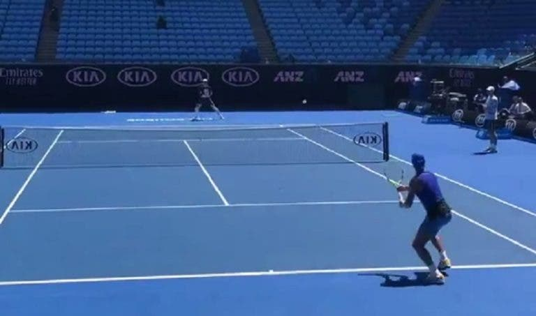 [VÍDEO] Depois de treinar com Federer, Edmund trabalhou a grande intensidade… com Nadal
