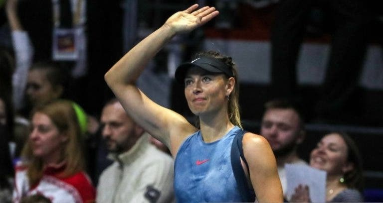 Sharapova já tem dia para o primeiro encontro em praticamente cinco meses