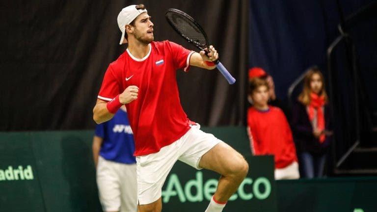 Playoff de qualificação para as Davis Cup Finals: resultados após o primeiro dia