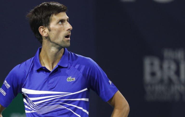 Novak Djokovic devastado com incêndio na Amazónia