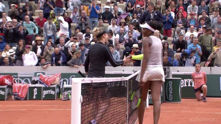 Svitolina despacha Venus Williams em Roland Garros