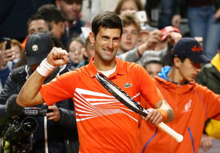 Djokovic salva dois match points e sobrevive a batalha épica frente a Del Potro em Roma