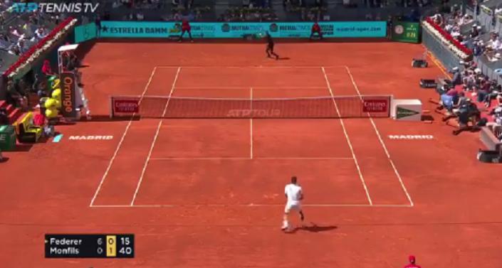 [VÍDEO] Federer e Monfils dão espetáculo em Madrid