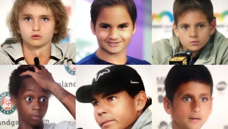 [FOTOS] ATP surpreende e lança galeria com os craques… versão criança