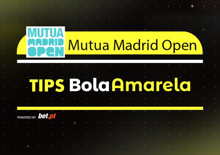 Apostas: Tips Mutua Madrid Open | 11/05/2019