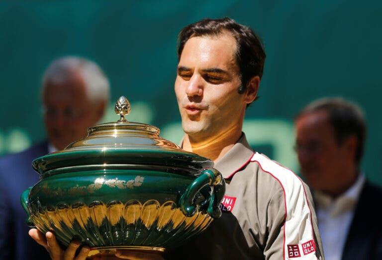Federer após vencer o décimo título em Halle: «Cumpri os 10 primeiro que as minhas filhas»