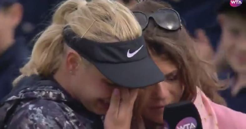 [VÍDEO] Vekic desmancha-se em lágrimas após perder final em Nottingham