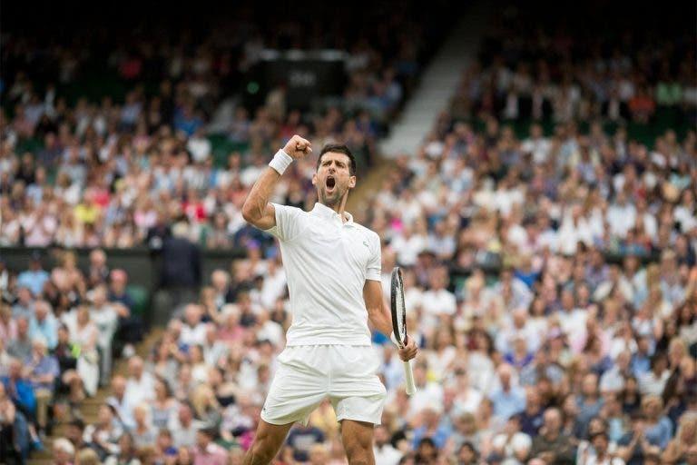 Cá está ele, o match point da glória de Djokovic em Wimbledon