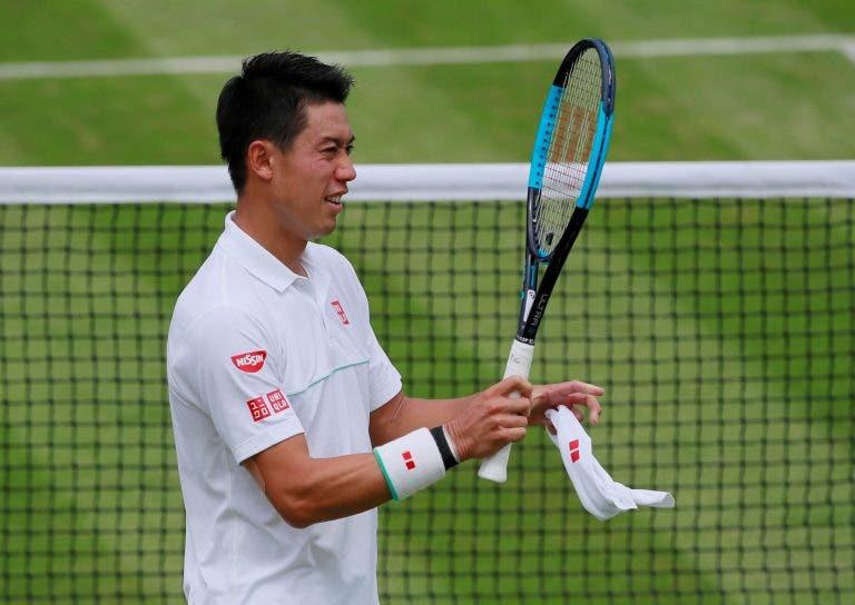 Nishikori segue firme para os quartos de final de Wimbledon e enfrenta… Federer