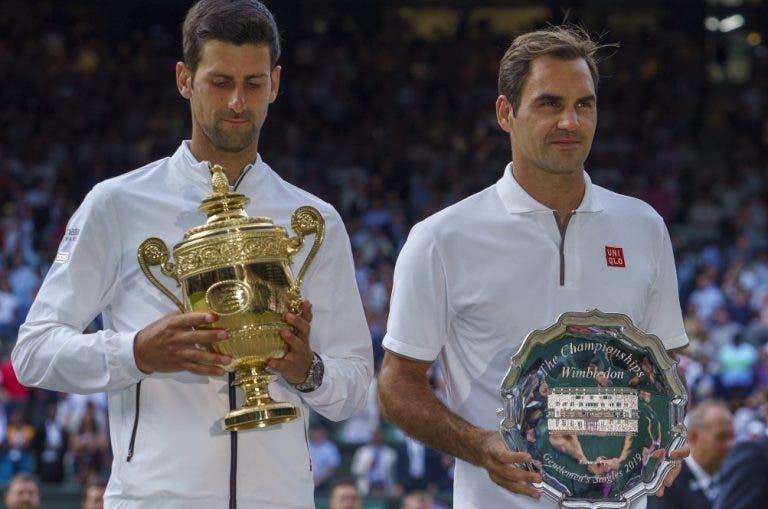 Djokovic considera a final de Wimbledon com Federer a segunda melhor da carreira: adivinha qual é a primeira?