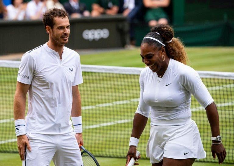 Murray quer torneios mistos: «Federer e Serena no mesmo court é algo brilhante»
