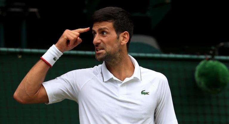 Djokovic sobre o apoio do público para Federer: «Quando gritavam 'Roger' para mim era 'Novak'»
