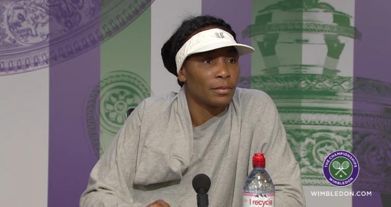 [VÍDEO] A telegráfica conferência de imprensa de Venus em Wimbledon