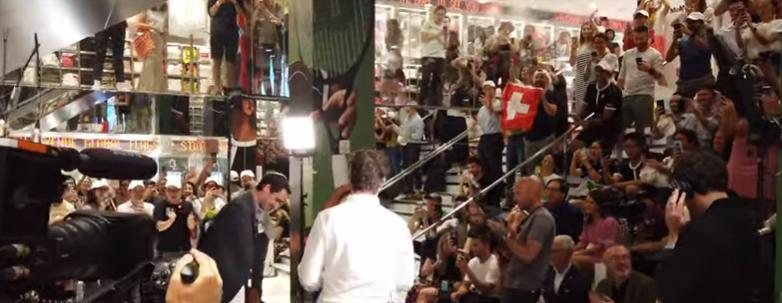 [VÍDEO] Federer foi a uma loja da Uniqlo em Nova Iorque e foi… recebido por autêntica multidão