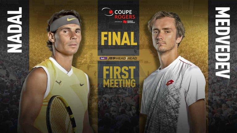 Final de Montreal: siga Rafa Nadal vs. Daniil Medvedev no nosso live center