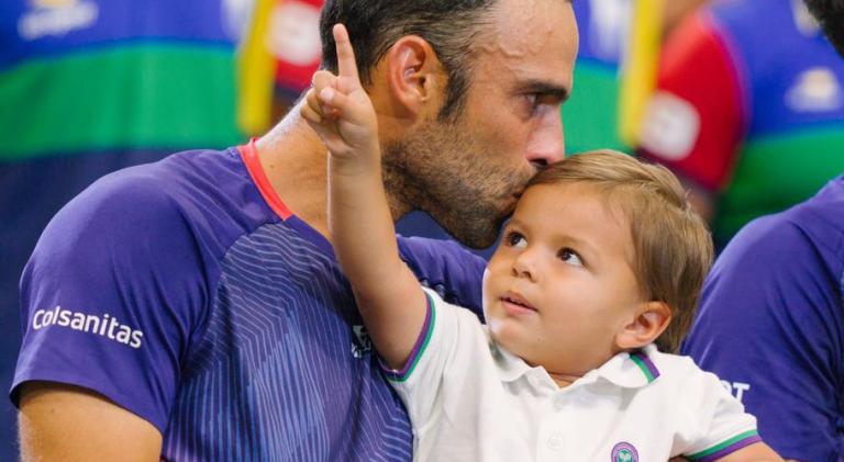 [VÍDEO] Número dois mundial de pares joga ténis com o filho…Em casa