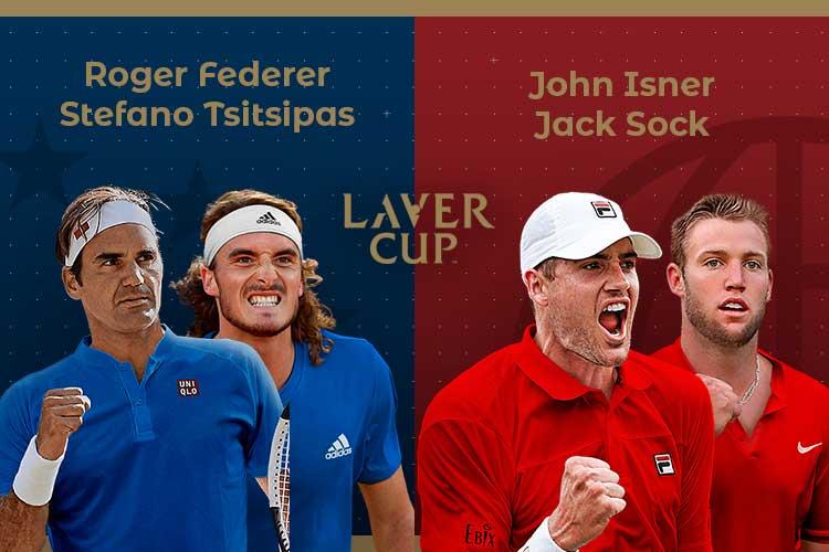 Laver Cup 2019: siga o Federer/Tsitsipas vs Isner/Sock no nosso live center