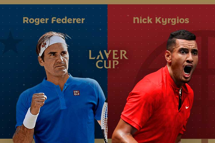 Laver Cup 2019: siga Roger Federer vs Nick Kyrgios no nosso live center