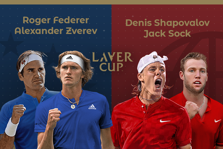 Laver Cup 2019: siga o Federer/Zverev vs Sock/Shapovalov no nosso live center