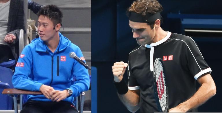 Federer bate Isner no Japão e elogia árbitro… Nishikori