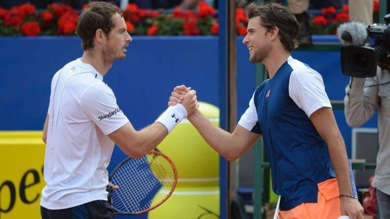 Thiem e o aliciante duelo com Murray: «É muito especial defrontar uma lenda do nosso desporto»