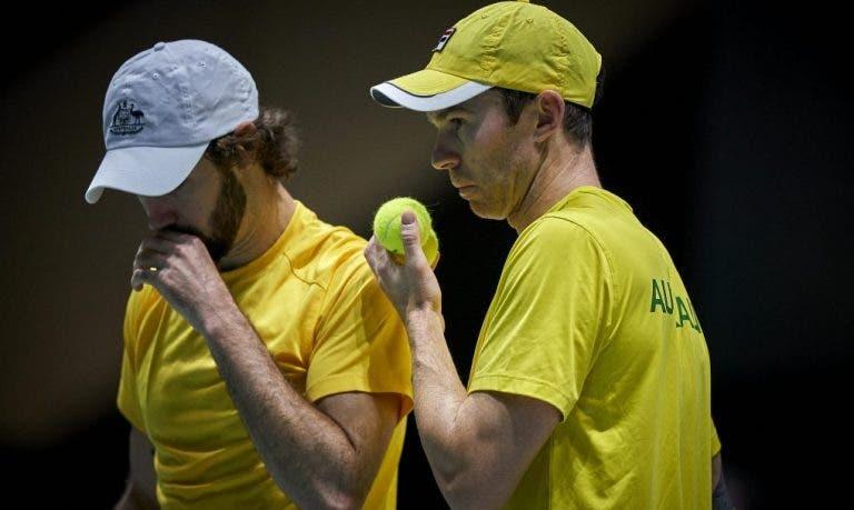 Nova polémica nas Davis Cup Finals: Austrália desiste do duelo de pares… após um jogo de serviço
