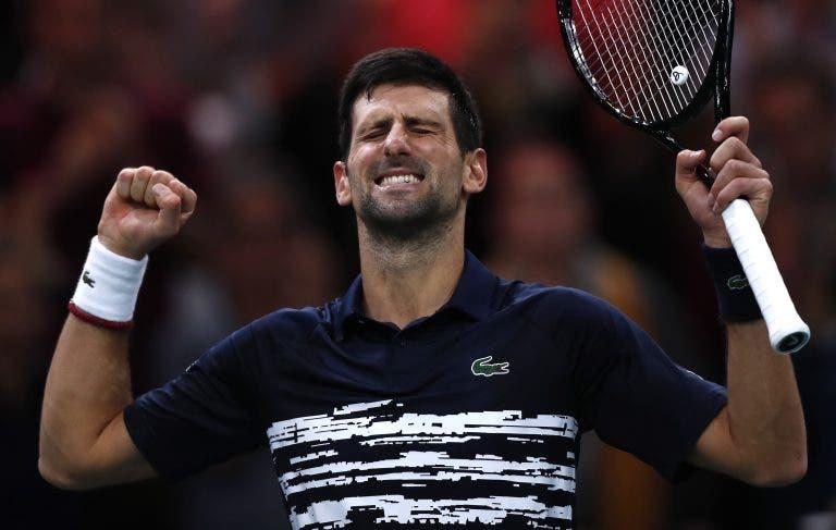Djokovic é demasiado forte para Shapovalov e conquista 5.º título da carreira em Paris-Bercy