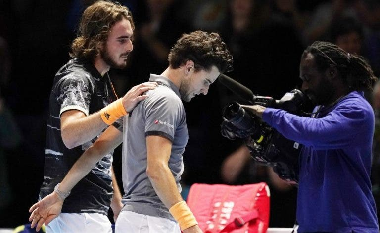 Thiem deixa fortes elogios a Tsitsipas: «És um tenista fantástico. Mereces o título»