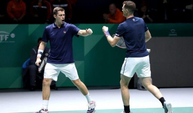 Grã-Bretanha entra a vencer nas Davis Cup Finals e atira para fora de cena a Holanda