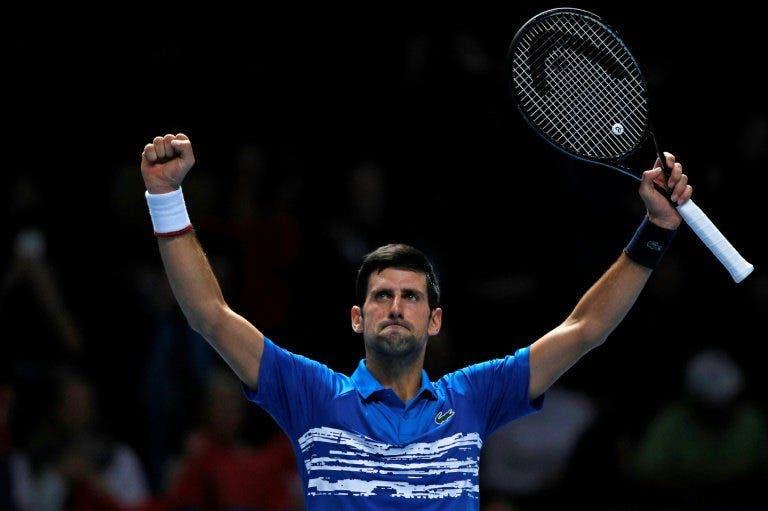 Djokovic iguala Becker e já é o 3.º jogador com mais vitórias na história das ATP Finals