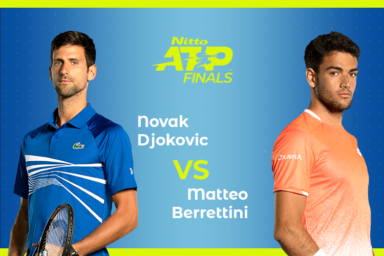 ATP Finals: Siga Novak Djokovic vs Matteo Berrettini no nosso live center