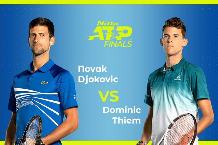 ATP Finals: Siga Novak Djokovic vs Dominic Thiem no nosso live center