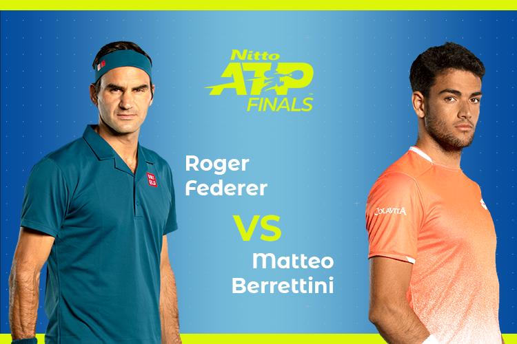 ATP Finals: Siga Roger Federer vs Matteo Berrettini no nosso live center