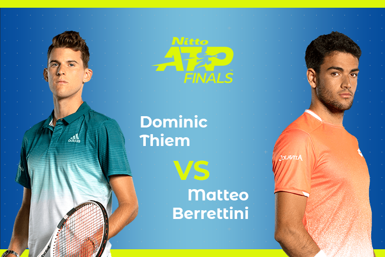 ATP Finals: Siga Dominic Thiem vs Matteo Berrettini no nosso live center