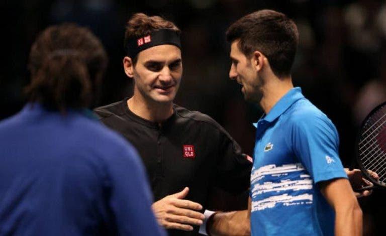 Federer garante: «Se o Djokovic não me ganhasse em Wimbledon não estava a lutar pelo número um»